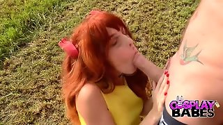 Cosplay Babes Redhead Cosplay Babe Fucked Outdoor