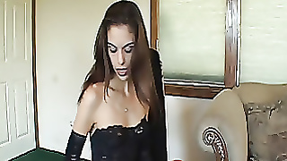 Huge Blonde Whore Gets Ass Smacked By Sexy Dominatrix