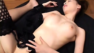 This Asian Cutie Can't Help But Get Wet While Sucking On A Boner