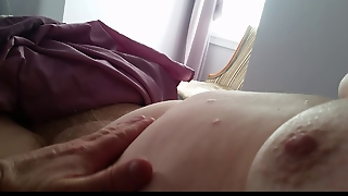 Rubbing Her Soft Belly,tits & Soft Hairy Pussy Mound