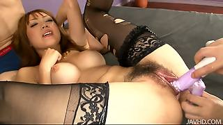 Horny Milf Asian Yuki Mizuho Takes Two Cocks At Once