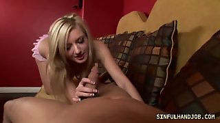 Blonde Babe Giving Blowjob