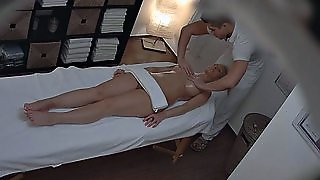 A Supposed Massage Turns Into A Real Hard Pussy Drilling