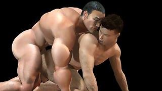 3D Muscle Males Fuck Straight Boys!