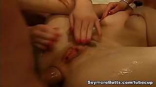 Threesome With Ass Licking And Anal Banging