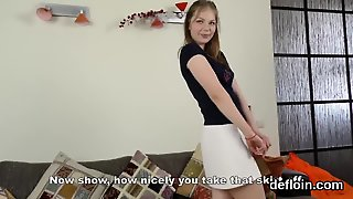 Pretty Teenie Stretches Wet Hole And Gets Deflorated