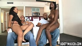 Two Big Ass Black Girls Fucked