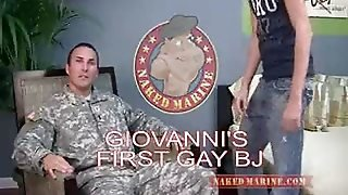 Lieutenant Giovanni's First Gay Bj