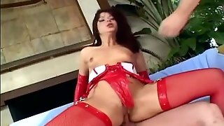 Anal Stockings, Anal Dp, Fishnet Anal, Brunette Threesome, Brunette Latex, Lingerie Brunette, Dp In Stockings, Spit Blow Job