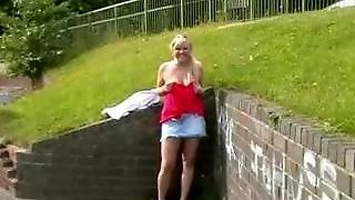 Busty Blonde Flashers Outdoor Masturbation And Naughty Amateur Public Nudes