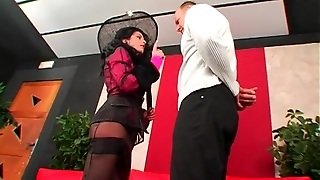 Face Slapping And Foot Worship With Mistress