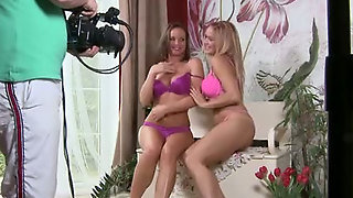 Silvia And Ass Stacy Pink Lingerie