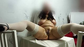 Mature Nurse With Big Tits. Masturbation