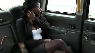 Huge Tits Ebony Screwed By Fake Driver