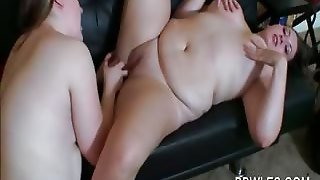 Chubby Lesbian Gets Slick Twat Licked And Dildo Nailed