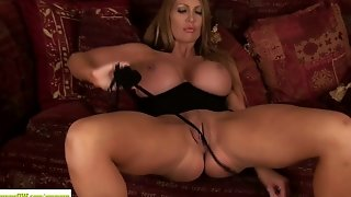 Cougar Leigh Darby Licks Big Tits