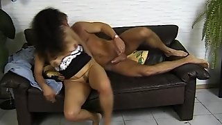 Busty Brunette Getting Fucked On The Couch