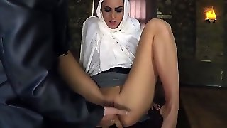 White Pervert Proves Arab Teen She Isn't Hard-To-Get Fingering Her Pussy