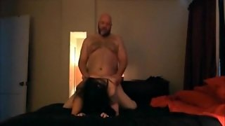 Fat Guy Talks Dirty To His Wife During Sex