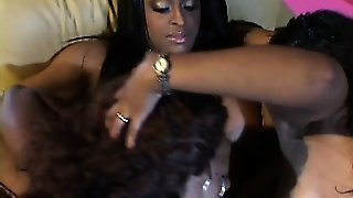 Three Ebony Lesbians Get In A Threesome And Go For Some Tasty Pussy