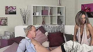 Blonde Mom Bangs To Creampie