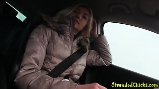 Amateur Hitchhiker Pussyfucked In Pov