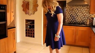 Blue 'fit And Flare' Swing Dress