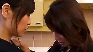Japanese Lesbians In The Kitchen