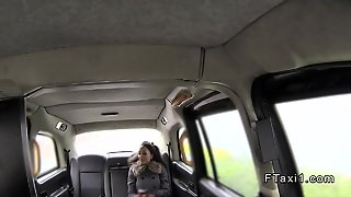 Ebony Interracial Anal Fingered In Cab