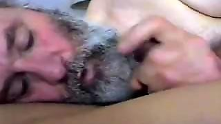 Old White Man Likes To Suck The Brown Dick.