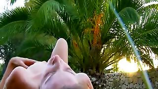 Fingers In Soft Pussy In The Outdoor