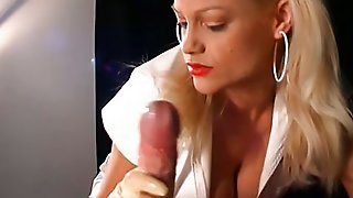 Blonde, Nurse, Caucasian, Masturbation, Couple, Handjob, Latex, Fetish