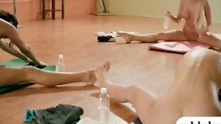 Two Brunettes Learned Yoga Techniques With Yoga Teacher