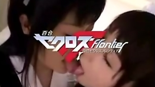 Japanese Lesbian Maids Kiss And Touch