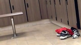 Spy Muscled Daddy Cock In Locker Room