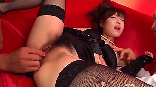 China Yuki Is A Dolled Up Chick In Need Of A Couple Of Dicks