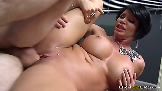 Milf Shay Fox With Gigantic Tits Takes
