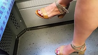 Young Girl With Hot Feet And Legs