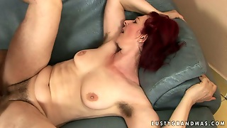 Redhead, Old And Young, Hairy, Missionary, Licking, Couple, Cumshot, Doggystyle, Natural Tits, Close Up, Hardcore