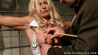 Arousing Blonde Milf Winnie With Huge Firm Balloons And Smoking