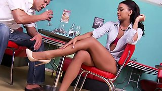 Ebony Footfucking Teen