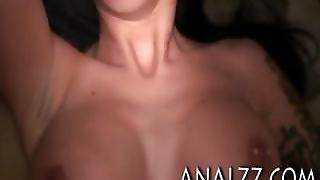 Big Boobs Brunette Girlfriend Gives Head And Tries Out Anal Sex