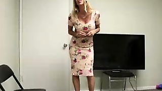 Step-Mom Gets Naked And Waxes The Knob Of Young Cock