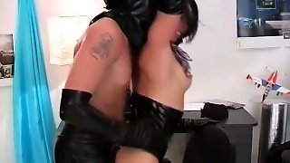 Kinky Brunette Paulina Sucks The Masked Stud's Cock And Has Him Fucking Her Pussy