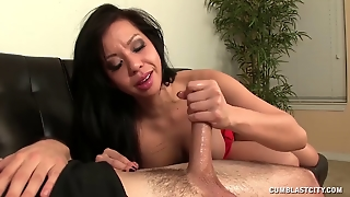 Cum Splatter For The Asian Babe
