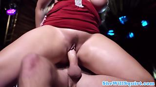 Young Squirter Bimbos In Threeway
