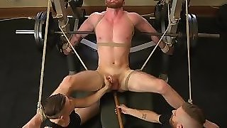 Tiedup Stud Tugged Till The Edge By Maledom