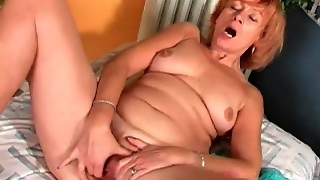 Solo Mature Strips From Her Lingerie To Masturbate