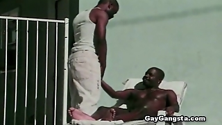 Depthroat, Gaygangsta Com, Blowjob, Outdoors, Bbc, Big Black Cock, Cumshot, Oral Sex, Dick Sucking, Doggystyle, Ebony