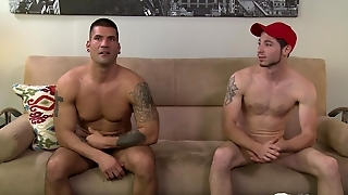 Str8 Muscled Big Rig Driver's First Time Gay Sex With A Str8 Country Dude.